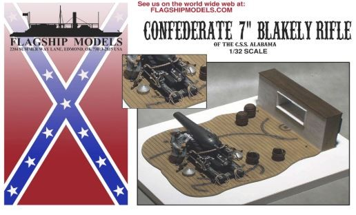 """Confederate 7"""" Blakely Rifle (Flagship, 1:32)"""