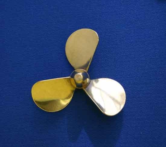 "Brass Propeller, 3 Blades LH (Dumas, 1 3/4"")"