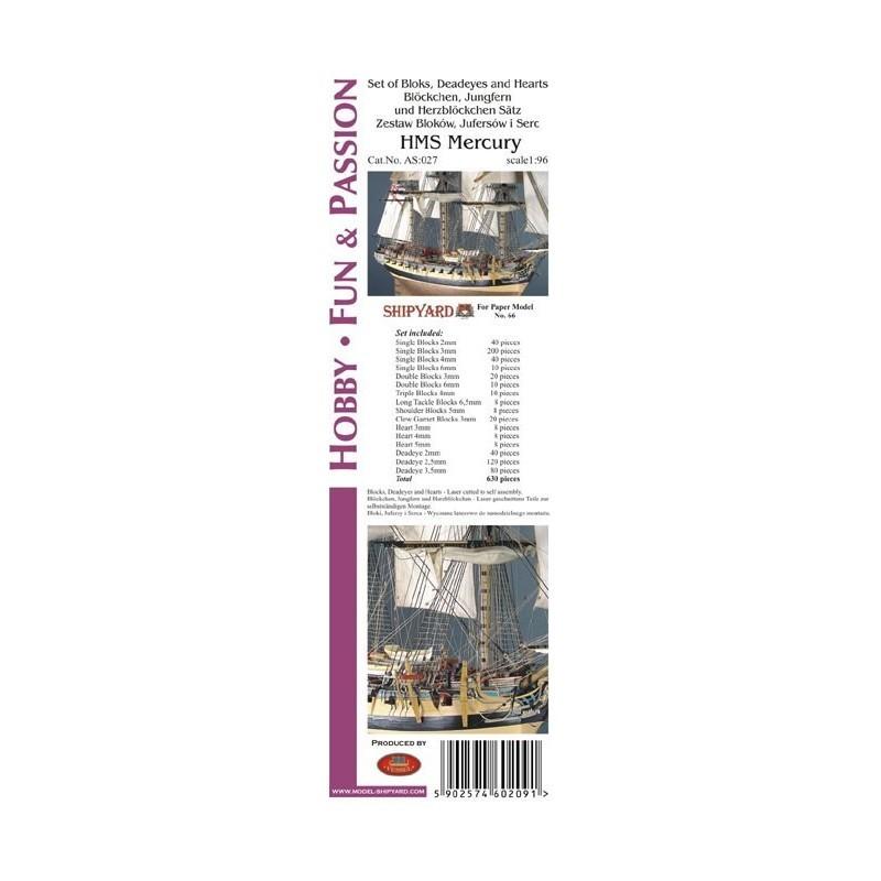 Block Set for HMS Mercury (Shipyard, 1:96)