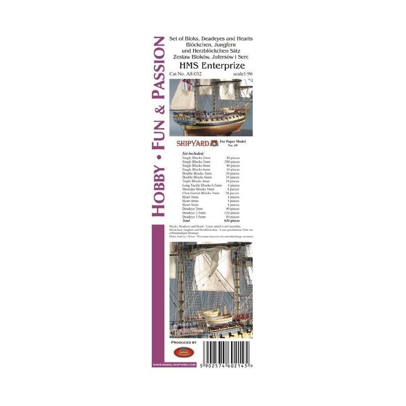Block Set for HMS Enterprize (Shipyard, 1:96)