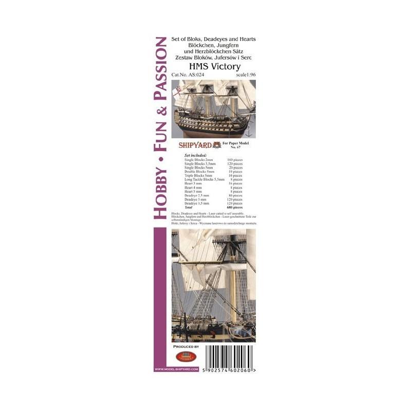 HMS Victory Block Set (Shipyard, 1:96)