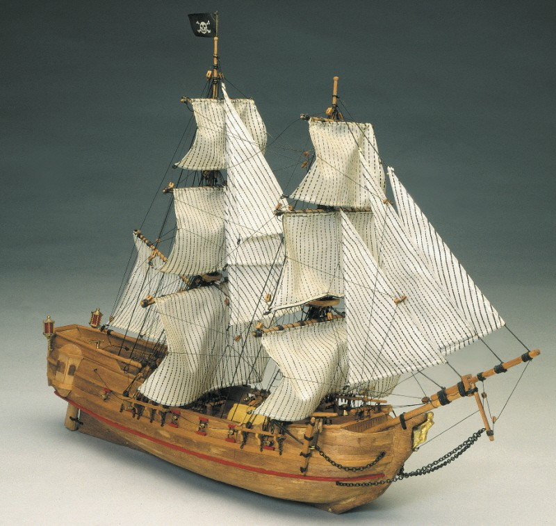 Black Falcon Pirate Ship (Mantua 1:100)