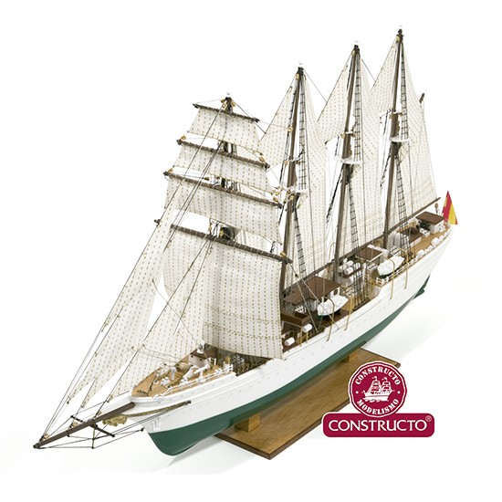 J.S. Elcano, Pre-Painted Plastic Hull (Constructo 1:205)