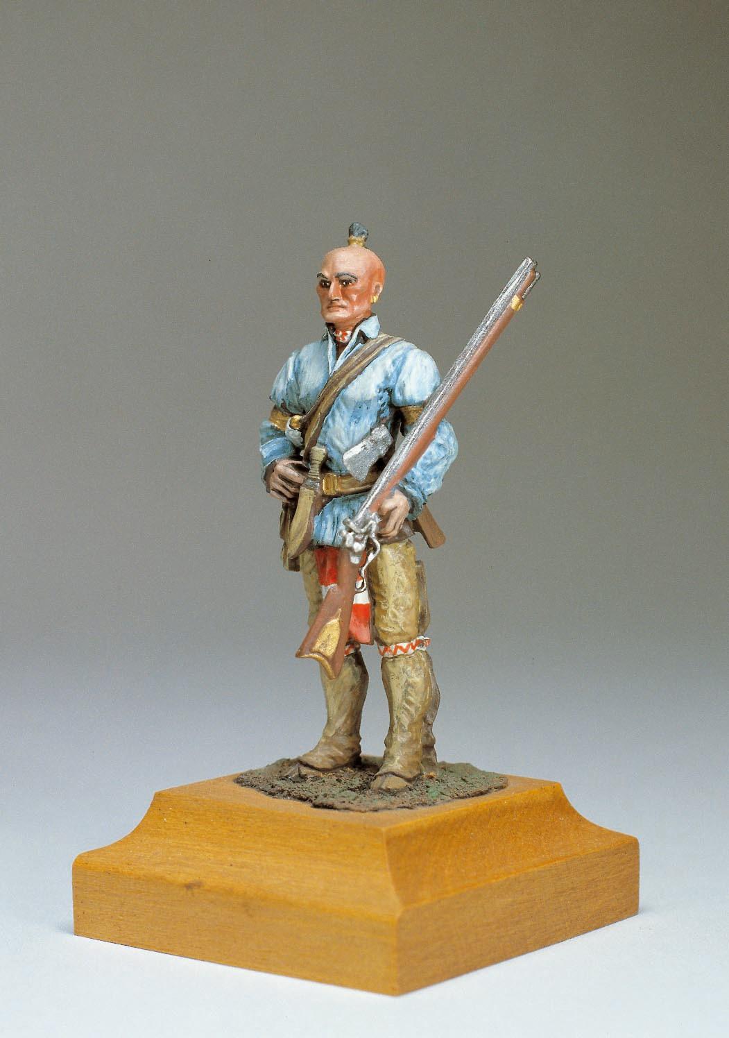 Mohican Warrior Figurine, 1759 (Amati)