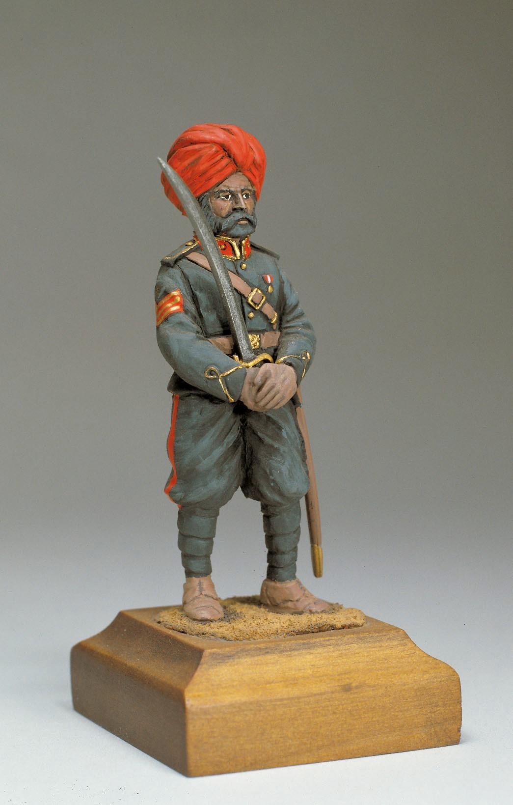 Indian Artillery Officer Figurine, 1900 (Amati)
