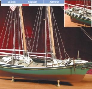 """Smuggler, 1877 Gloucester Schooner (BlueJacket, Scale: 1/4""""=1')"""