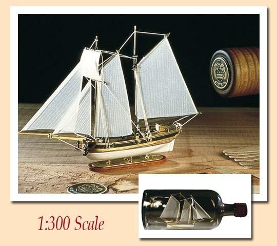 Hannah Ship-in-a-Bottle Kit (Amati, 1:300)