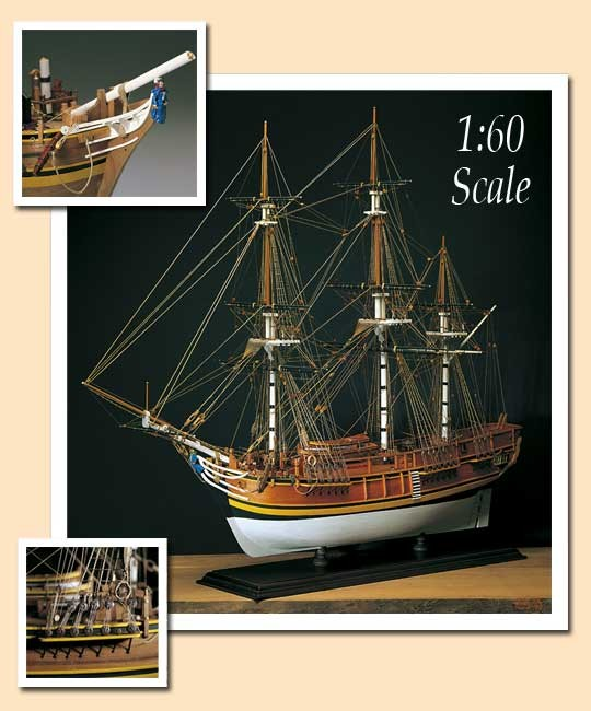 HMS Bounty - Amati Wood Ship Model Kit AM1432