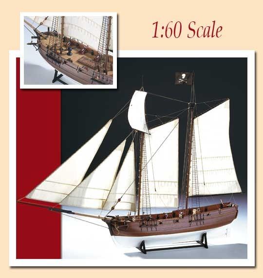 """AM1446 Amati Pirate Ship """"Adventure"""""""