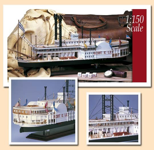 Robert E. Lee - Mississippi Riverboat - Amati wooden kit AM1439