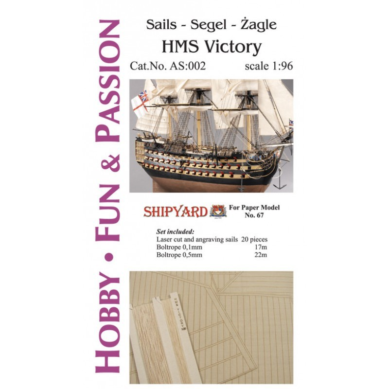 Sails for HMS Victory (Shipyard 1:96)