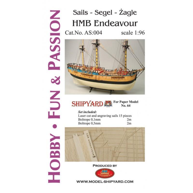 Sails for HM Bark Endeavour (Shipyard 1 :96)