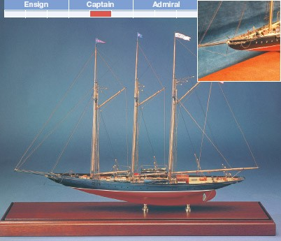 Atlantic 3-Masted Transatlantic Schooner (Bluejacket)