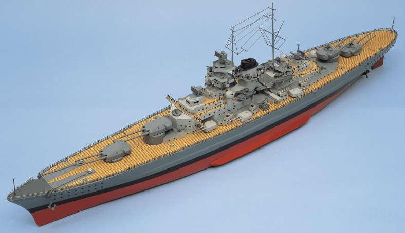 BISMARCK Battleship and Fittings Set (Aero-naut, 1:200)