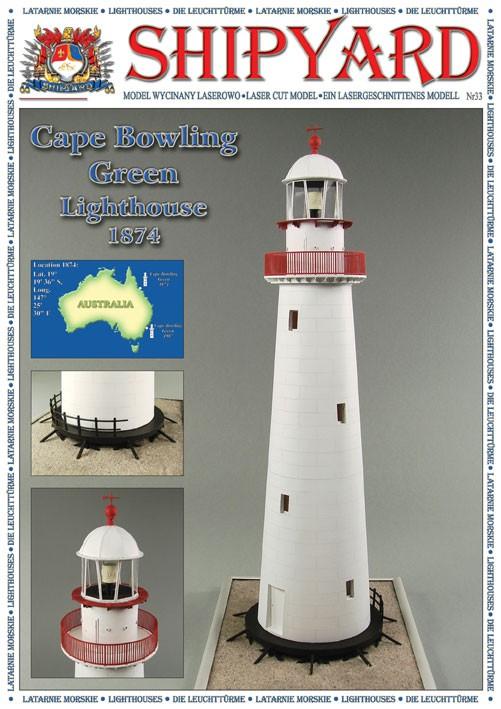 Cape Bowling Green Lighthouse Paper Kit (Shipyard 1:72)