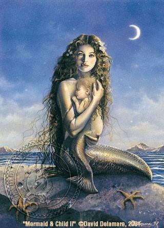 Mermaid & Child II by David Delamare