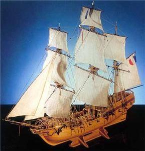 Corel Tonnant Wood Ship Sit Model #SM50