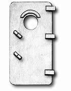 Cast Doors w/Porthole (10x18mm, AM4939/18)