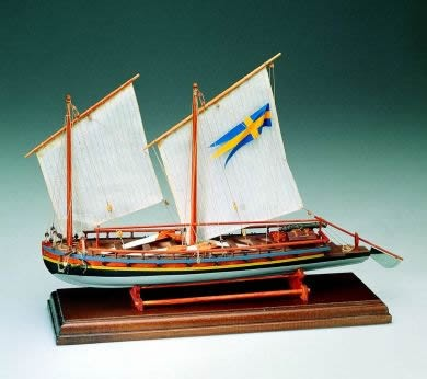Swedish Gunboat 1775 - Amati wood ship model kit AM1550