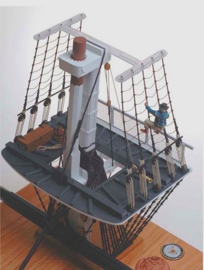 "Constitution Main Mast ""Fighting Top"" (Flagship 1:35)"