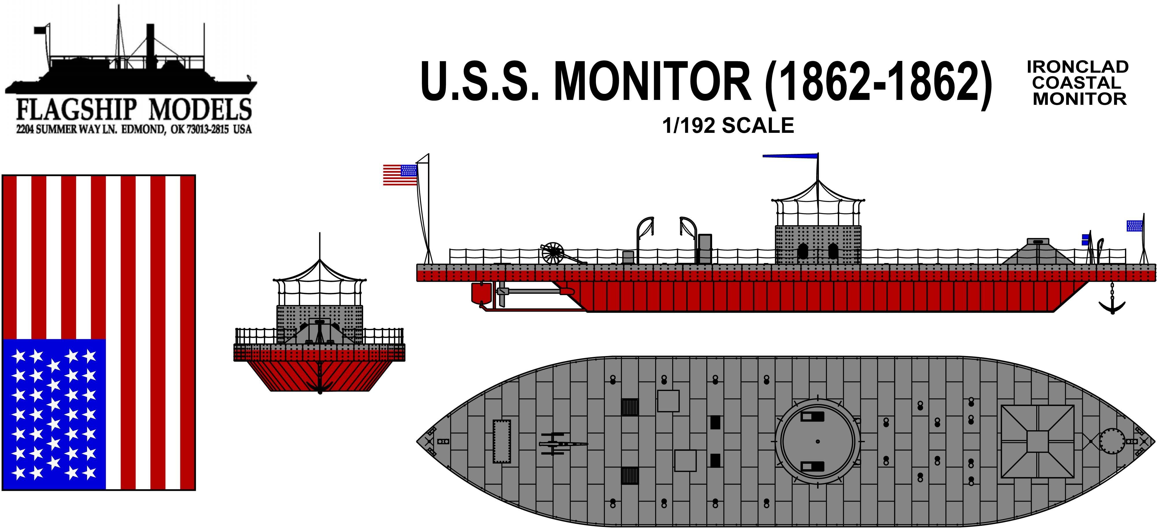 USS Monitor (1:192, Flagship Models) - Flagship Models (Multimedia)Ages of Sail