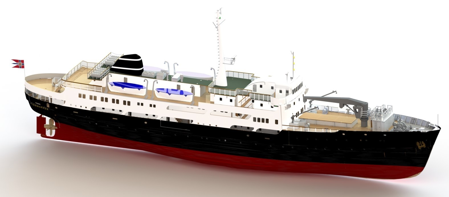 M/S Finnmarken, Norwegian Passenger Ship (Turk, 1:60)