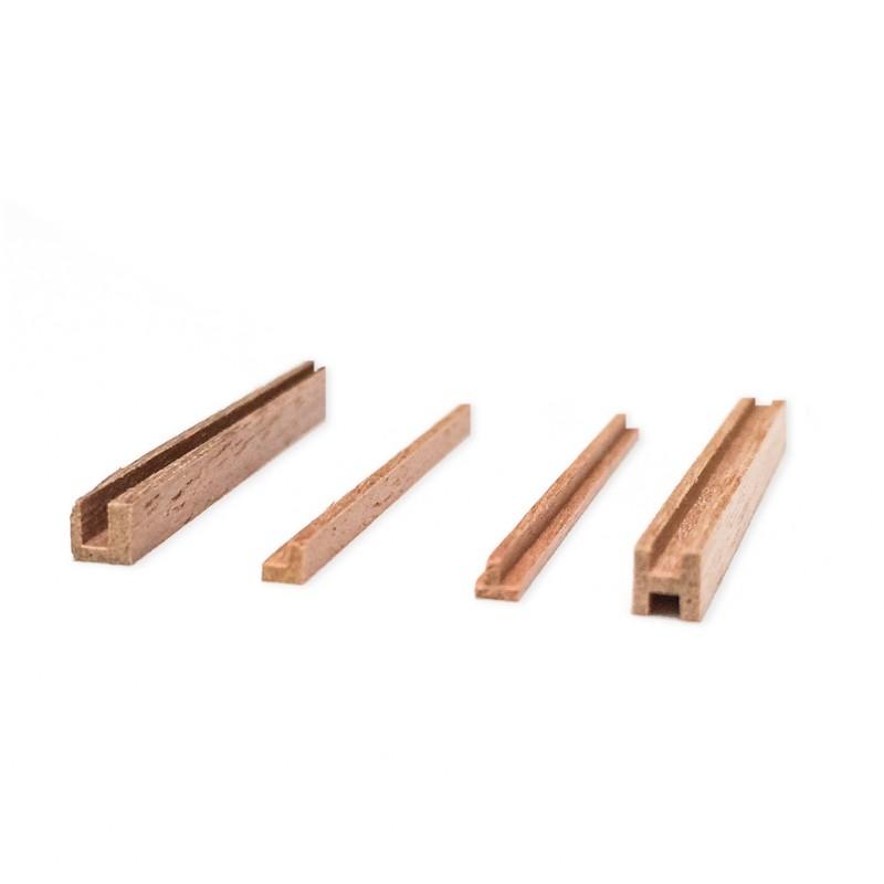 """Walnut """"L"""" Section  2x2mm (AM2580/05"""
