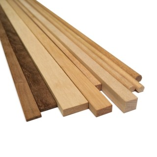 Walnut Wood Strips 6mm x 6mm (10/PK, AM2410/06)