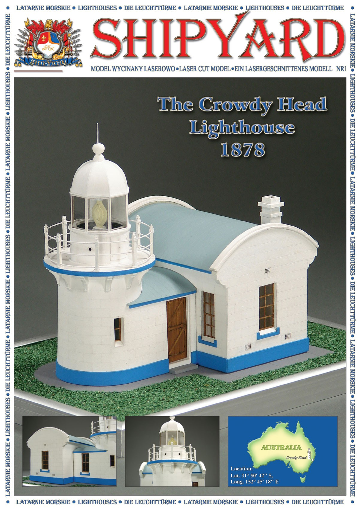 Paper Crowdy Head Lighthouse, 1878 (1:87 (HO), Shipyard)