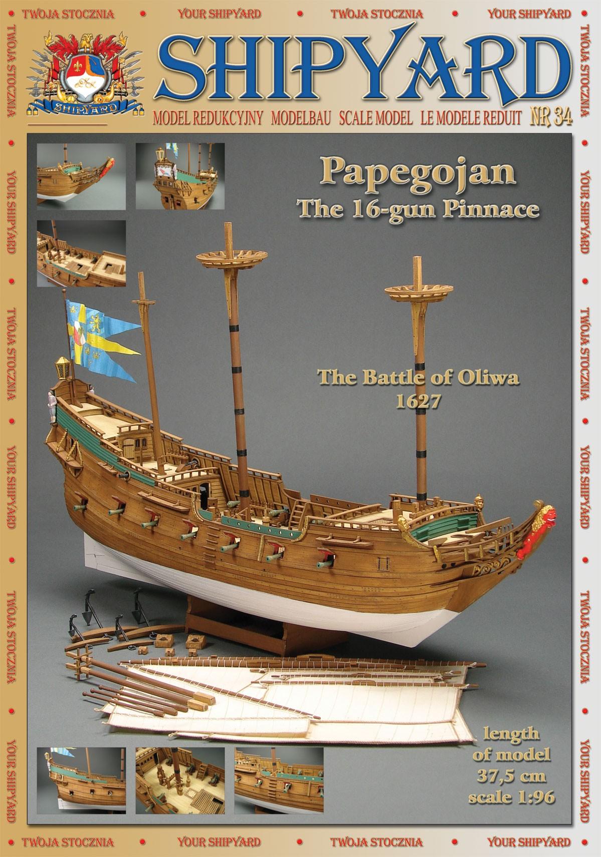 Modell-Zubehörsatz Segel für Papegojan 1:96 Shipyard