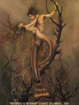Mermaid & Merman by David Delamare
