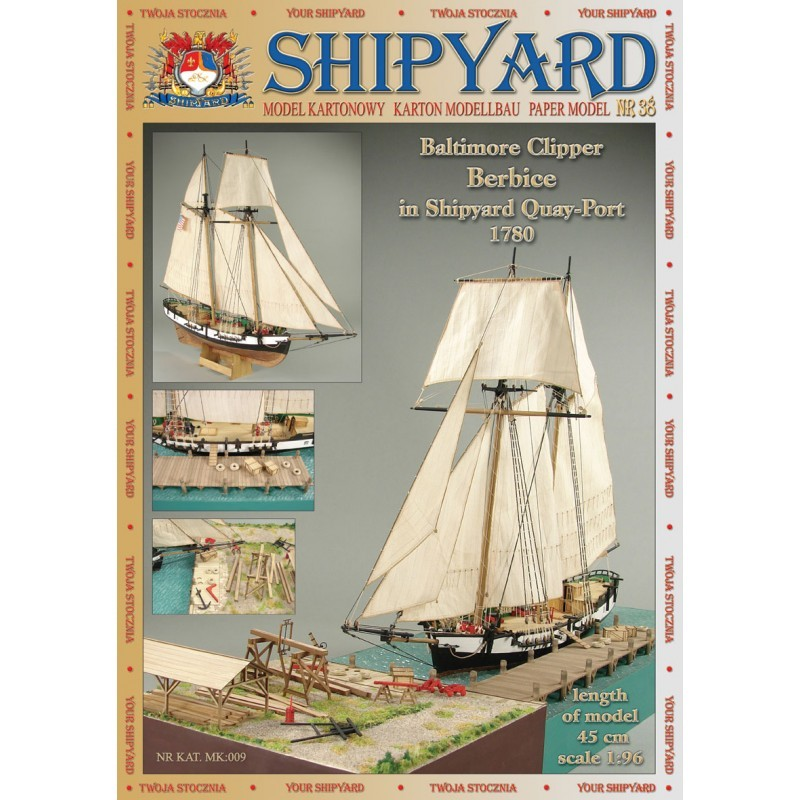 Berbice in Shipyard Quay-Port 1780 Paper Kit (Shipyard 1:96)