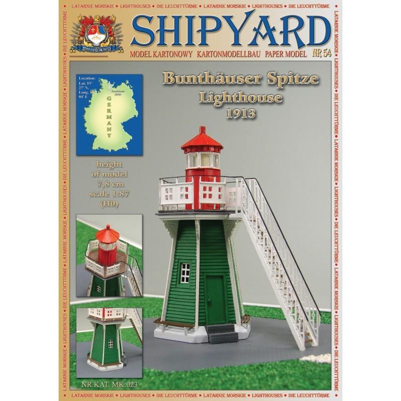 Bunthäuser Lighthouse Paper Kit (Shipyard 1:87 HO)