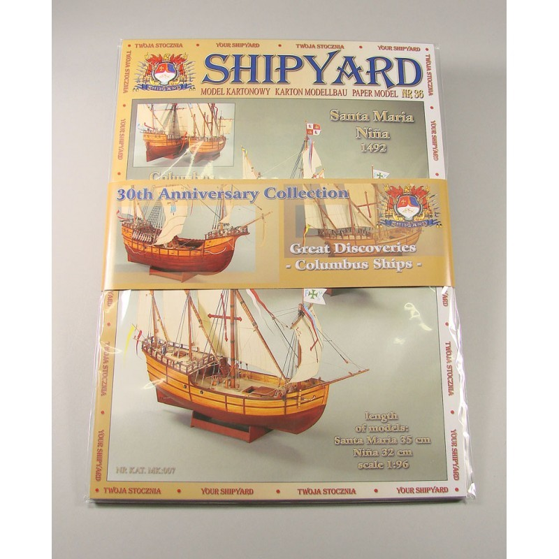 30th Anniversary Collection- Columbus Ships Paper Models (Shipyard 1:96)
