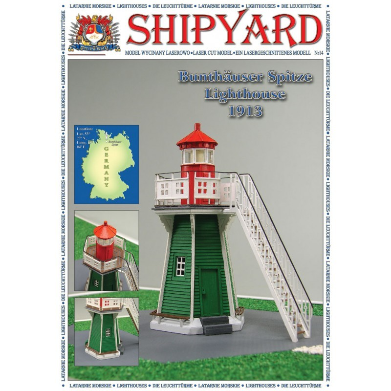 Bunthäuser Spitze Lighthouse Paper Kit (Shipyard 1:87 HO)