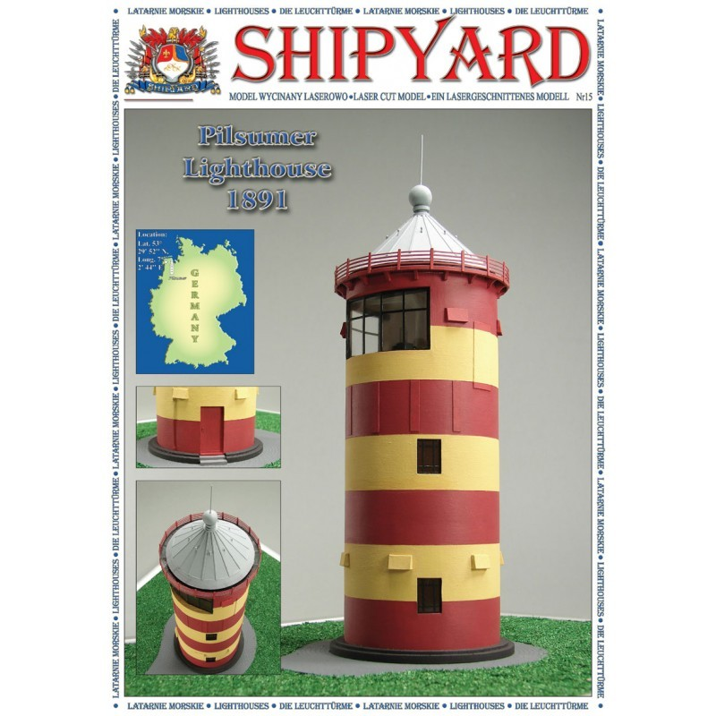 Pilsumer Lighthouse Paper Kit (Shipyard 1:72)