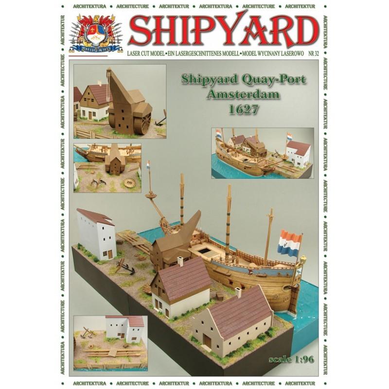 QuayPort - Amsterdam 1627 Paper Kit (Shipyard 1:96)