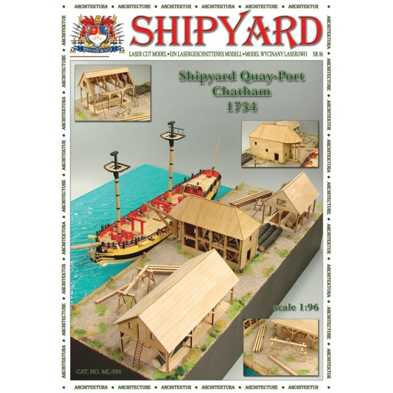 Quay-port - Chatham 1754 Paper Kit (Shipyard 1:72)