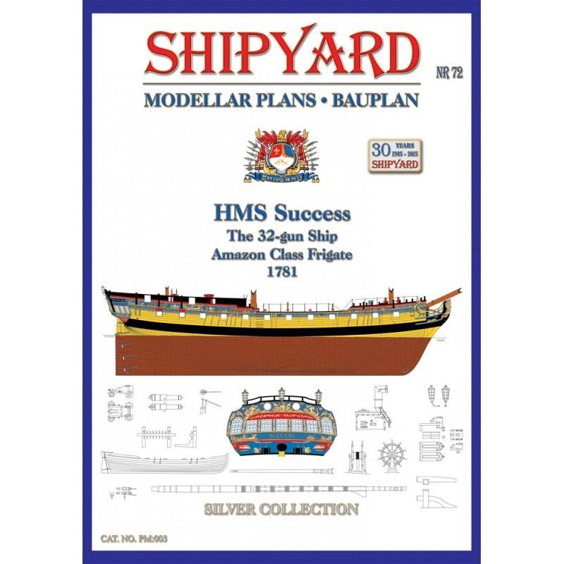 HMS Success Modellar Plans (Shipyard)