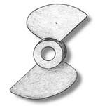 2 Bladed Bronze Propeller (50mm, AM4827/50)