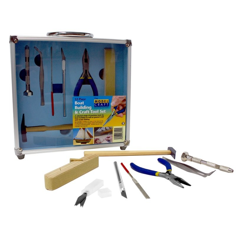 12pc. Boat Building Tool Set (ModelCraft)
