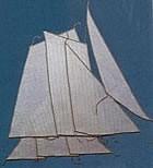 Bomb Ketch Sails Set (AM5618/10)