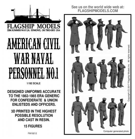 US Civil War Naval Personnel No.1 (Flagship 1:192)