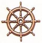 Ships Wheel Bronzed (14mm, AM4350/14)