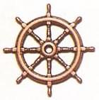 Ships Wheel Bronzed (20mm, AM4350/20)