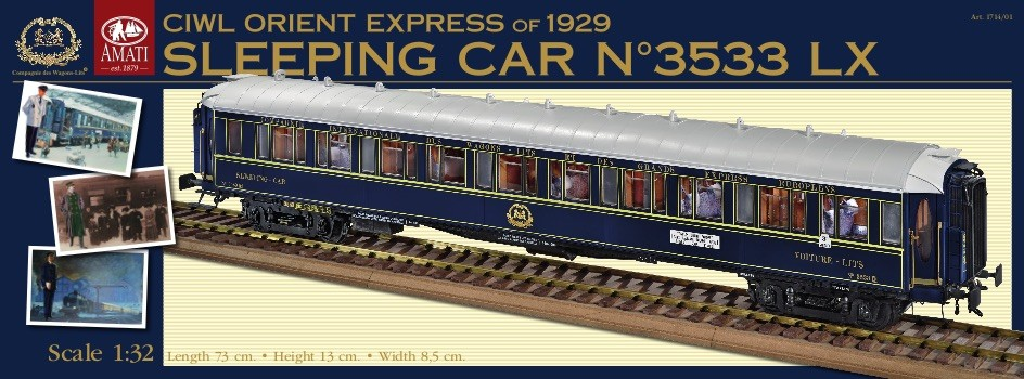 Orient Express Sleeping Car (Amati, 1:32)