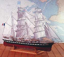 Le Belem, Three-Masted French Training Ship (1:75, Soclaine)
