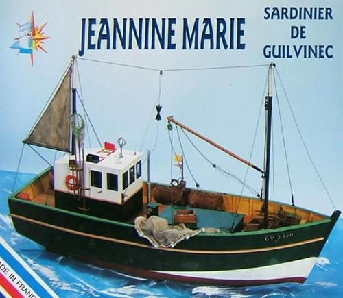 Jeannine Marie, Sardine Fishing Boat (1:20, Soclaine)