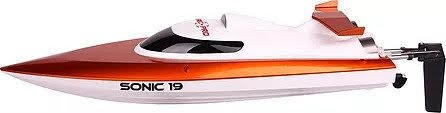 Sonic 19 High Speed RC Boat-Orange