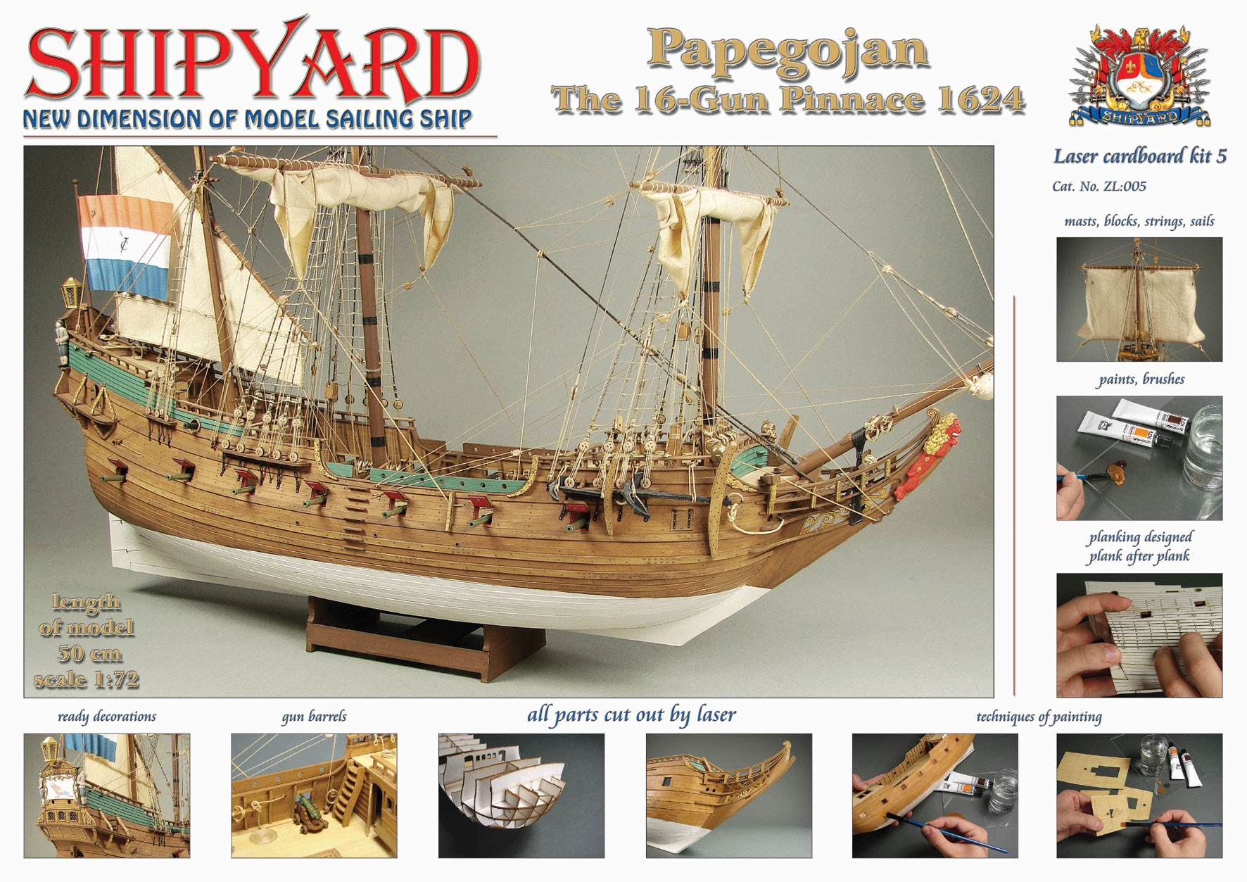 Papegojan Laser Cardboard Kit (Shipyard 1:72)